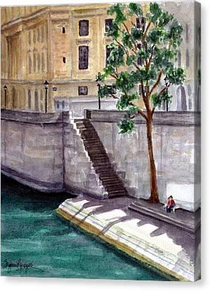 Along The Seine Canvas Print