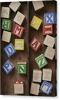 Wooden Box Canvas Print - Alphabet Blocks by Edward Fielding