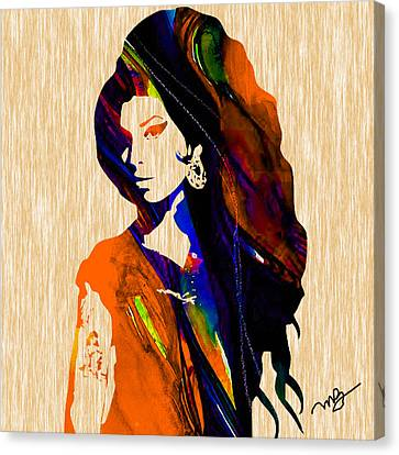 Amy Winehouse Canvas Print by Marvin Blaine