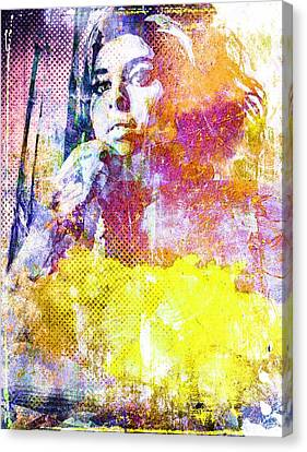 Amy Winehouse Canvas Print by Svelby Art