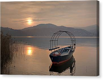 an evening at the Lake Maggiore Canvas Print by Joana Kruse