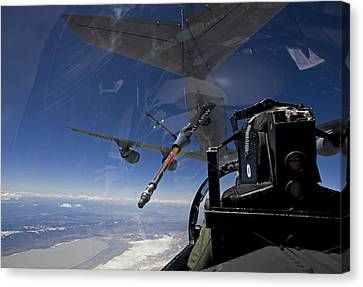 An F-15 Eagle Pulls Into Position Canvas Print by HIGH-G Productions