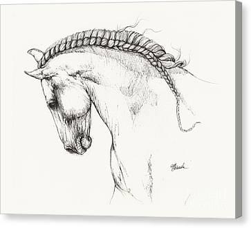 Andalusian Horse Drawing Canvas Print by Angel Tarantella