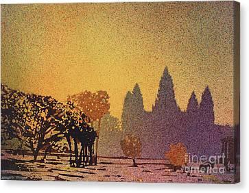 Angkor Sunrise Canvas Print by Ryan Fox