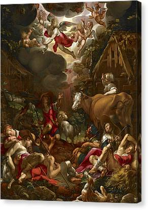 Annunciation To The Shepherds Canvas Print