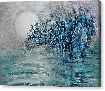 another  Moon river Canvas Print by Mary Sonya  Conti