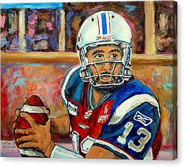 People Canvas Print - Anthony Calvillo by Carole Spandau