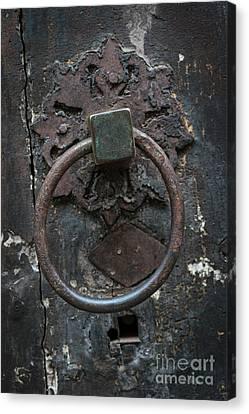 Canvas Print featuring the photograph Antique Door Knocker by Elena Elisseeva
