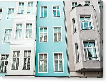 Ledge Canvas Print - Apartment Buildings by Tom Gowanlock