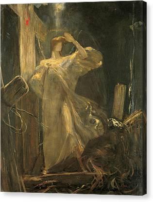 Archangel, Study For The Foundation Of The Faith Canvas Print by Nikolaos Gyzis