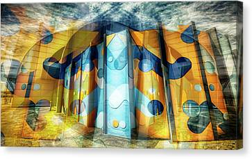 Canvas Print featuring the photograph Architectural Abstract by Wayne Sherriff