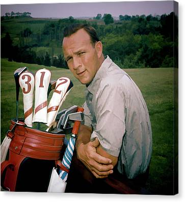 Arnold Palmer Detail Painting Canvas Print
