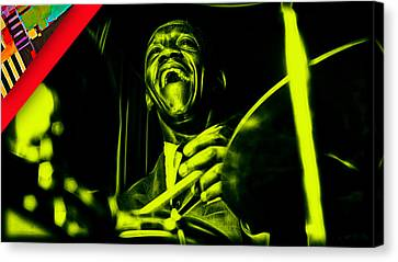 Art Blakey Collection Canvas Print by Marvin Blaine