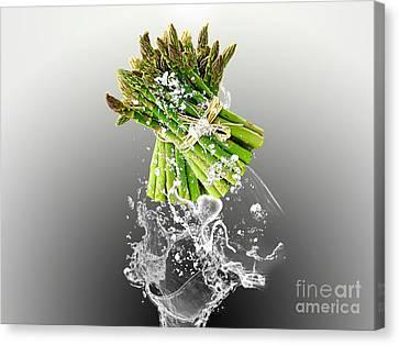 Asparagus Splash Canvas Print by Marvin Blaine