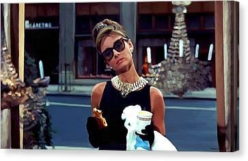 Audrey Hepburn @ Breakfast At Tiffanys Canvas Print