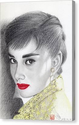 Audrey Hepburn Canvas Print by Eliza Lo