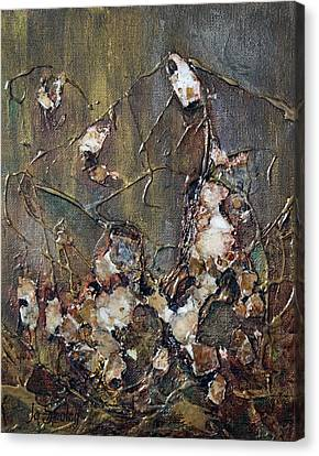 Canvas Print featuring the painting Autumn Leaves by Joanne Smoley