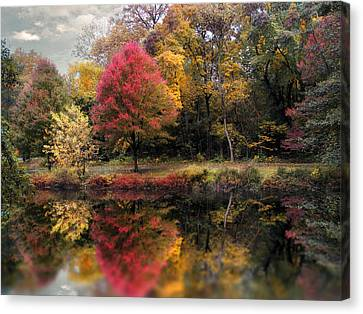 Autumn's Mirror Canvas Print by Jessica Jenney