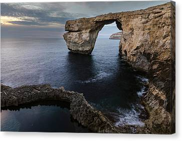 Azure Window - Gozo Canvas Print