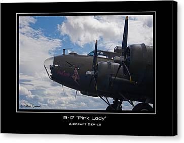 B-17 Pink Lady Canvas Print by Mathias Rousseau