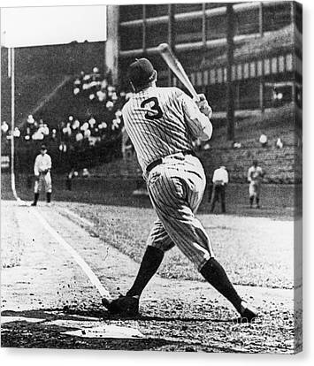 Babe Ruth Canvas Print by American School