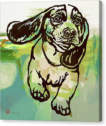 Baby Dog -  Pop Art Poster Canvas Print