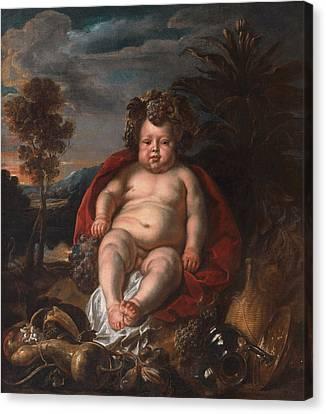 Bacchus As A Child Canvas Print by Jacob Jordaens