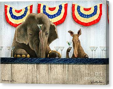 Backroom Politics... Canvas Print by Will Bullas