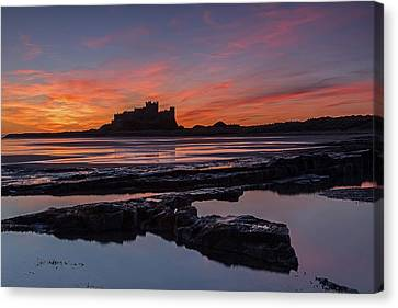 Bamburgh Castle Sunrise Canvas Print