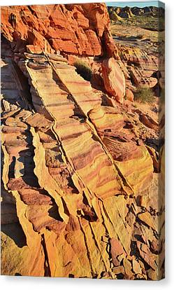 Canvas Print featuring the photograph Bands Of Color In Valley Of Fire by Ray Mathis