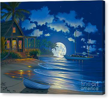 South Seas Paradise Canvas Print