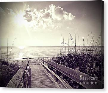 Barefoot Beach Canvas Print by Chris Andruskiewicz