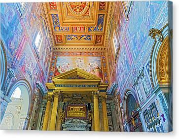 Basilica Of Saint John Lateran In Rome, Italy. Canvas Print by Marek Poplawski