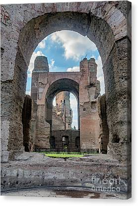 Caracalla Canvas Print - Baths Of Caracalla In Ancient Rome, Italy by Frank Bach