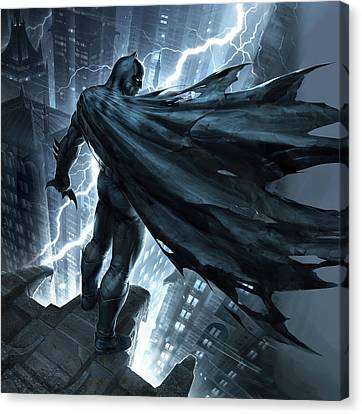 Horror Fantasy Movies Canvas Print - Batman The Dark Knight Returns 2012 by Fine Artist