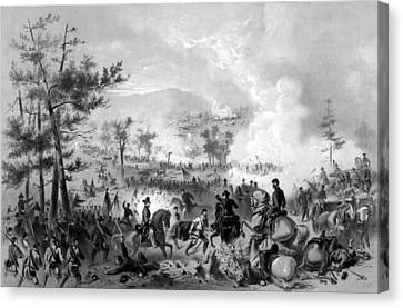 Canvas Print featuring the drawing Battle Of Gettysburg by War Is Hell Store