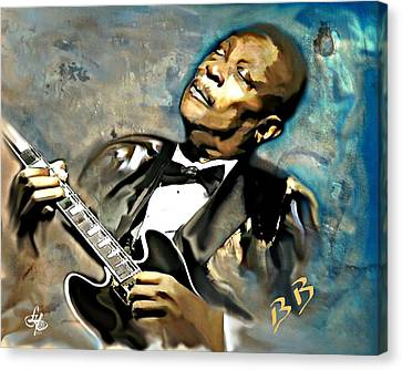 Bb King Canvas Print by Lynda Payton