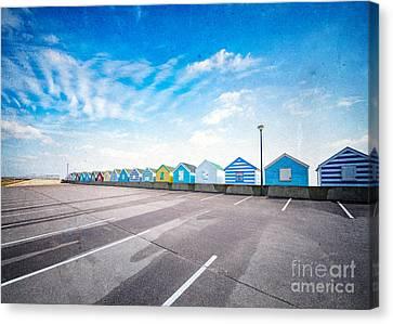 Beach Huts Canvas Print by Svetlana Sewell