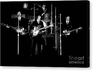 Drummer Canvas Print - Beatles In Concert 1964 by Larry Mulvehill