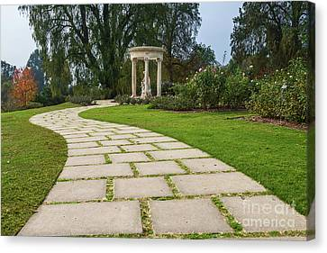 Beautiful Pathway Along The Rose Garden Of The Huntington Librar Canvas Print by Jamie Pham