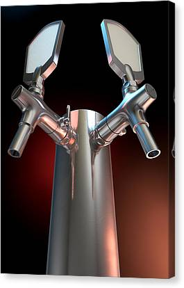 Beer Tap Dual Dark Canvas Print by Allan Swart