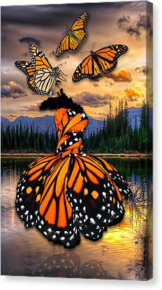 Canvas Print featuring the mixed media Believe by Marvin Blaine