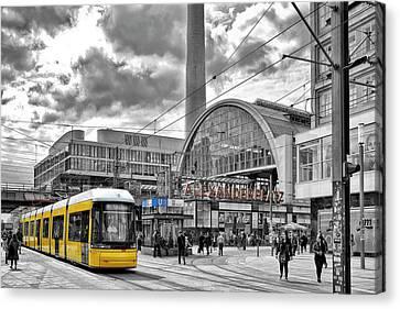 Berlin Alexanderplatz Canvas Print by Joachim G Pinkawa