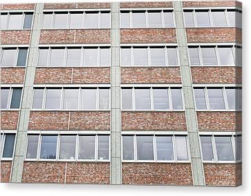 Brutalist Canvas Print - Berlin Building  by Tom Gowanlock