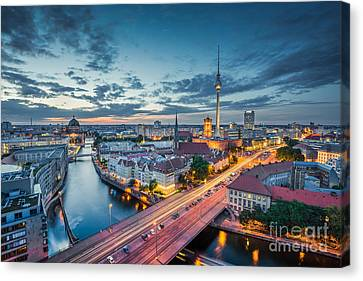 Berlin City Lights Canvas Print by JR Photography