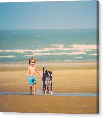 Best Friends Canvas Print by Wim Lanclus