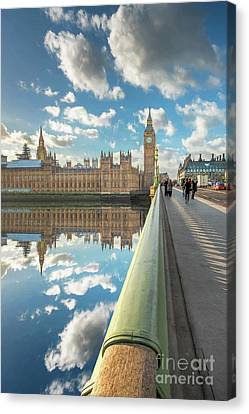 Canvas Print featuring the photograph Big Ben London by Adrian Evans