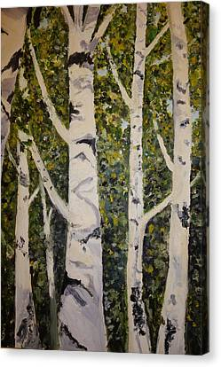 Birch Merengue Canvas Print by Rauno  Joks