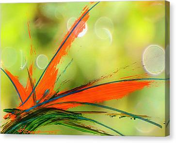 Bird Of Paradise 2 Canvas Print by Kume Bryant