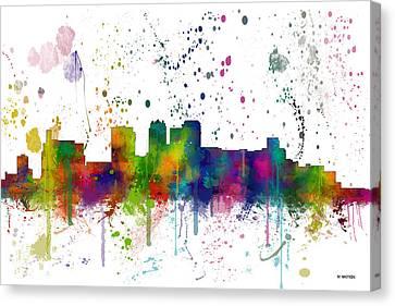Birmingham Alabama Skyline Canvas Print by Marlene Watson